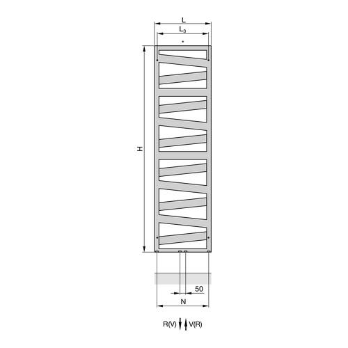 "Zehnder ""Ribbon"" Designheizkörper 166,1 × 60 cm 3"
