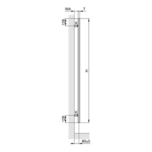"Zehnder ""Ribbon"" Designheizkörper 166,1 × 60 cm 4"