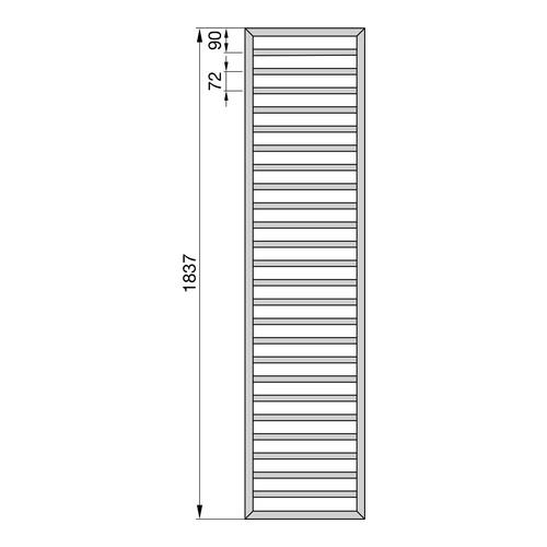 Zehnder Subway Designheizkörper 183,7 x 45 cm 2