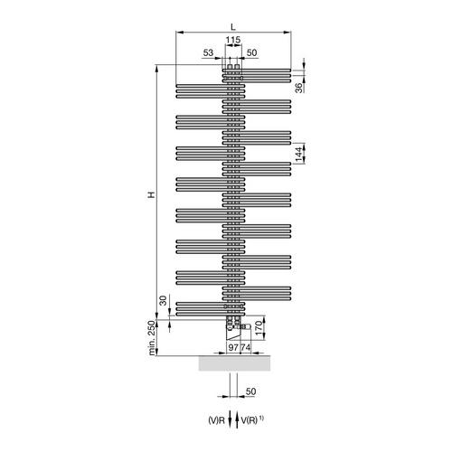 Zehnder Yucca Designheizkörper 134 × 50 cm 3