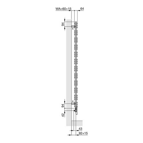 Zehnder Yucca Designheizkörper 134 × 50 cm 4