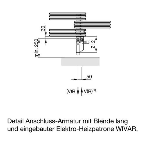 Zehnder Yucca Designheizkörper 134 × 50 cm 5