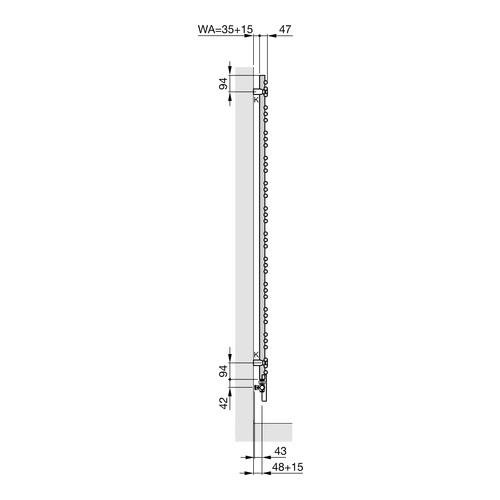 Zehnder Yucca Asym Designheizkörper 87,2 × 47,8 cm 5