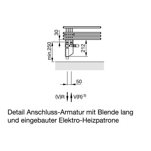 Zehnder Yucca Asym Designheizkörper 87,2 × 47,8 cm 6