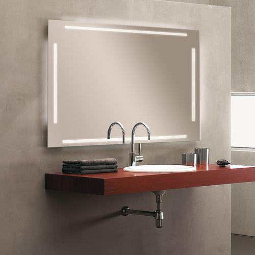 """Zierath Lichtspiegel """"Ascona LED"""" Kristallspiegel nach Maß, BxH: 600x600"""