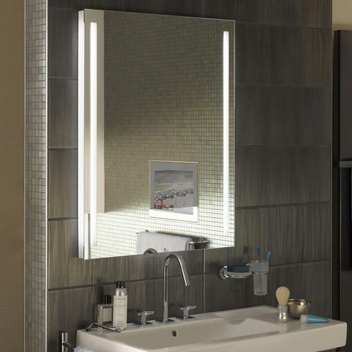Zierath Lichtspiegel TORINO LED Kristallspiegel nach Maß, BxH: 600x600