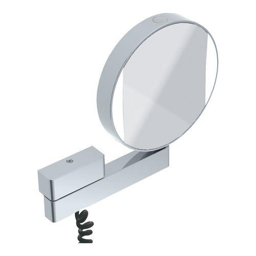 emco prime Rasier- und Kosmetikspiegel mit LED-Beleuchtung ⌀ 20,2 cm 0