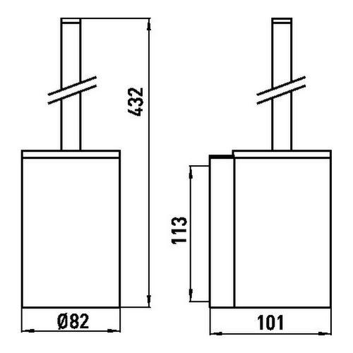 emco system 2 Toilettenbürstengarnitur 8,2 x 43,2 x 10,1 cm 1