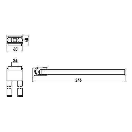 emco system 2 Handtuchhalter 34,6 cm 1