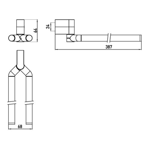 emco system 2 schwenkbarer Handtuchhalter 38,7 cm 1