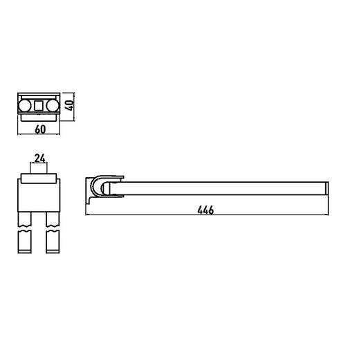 emco system 2 Handtuchhalter 44,6 cm 1