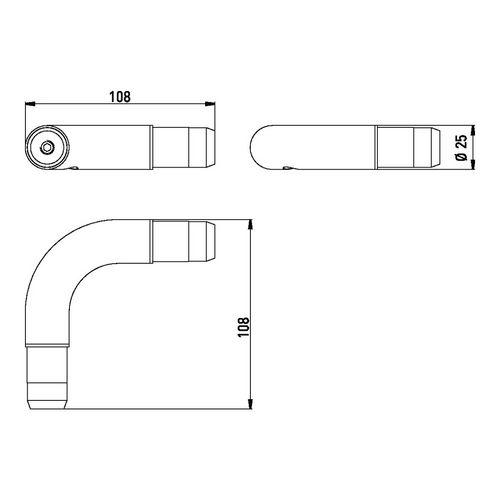 emco system 2 Eckverbindung 90° 10,8 x 10,8 x 2,5 cm 1