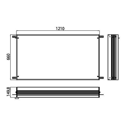 prestige Einbaurahmen für Unterputz-Spiegelschrank mit LED-Beleuchtung 121 × 63,7 cmm