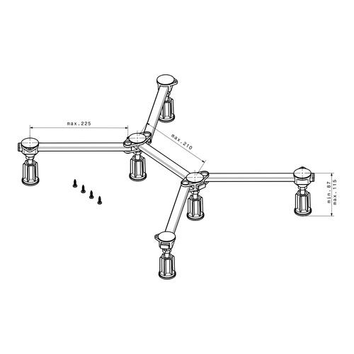 poresta Ferroplast® D6 Mini Duschwannenfuß für Acryl- und Stahlduschwannen 1
