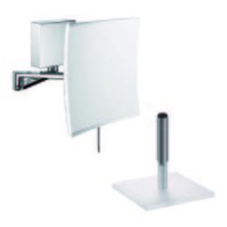 SAM Kosmetikspiegel quadra miro LED 5-fach Wand-/Standmodell